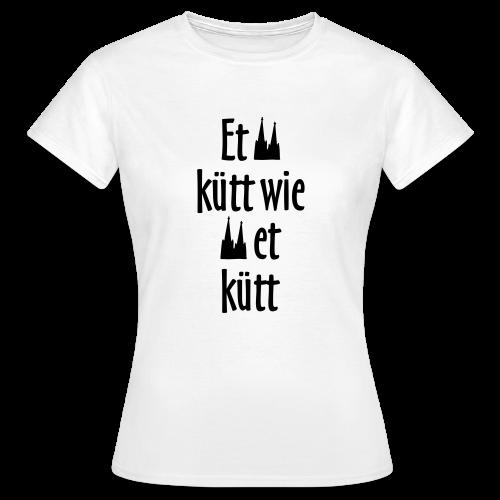 Et kütt wie et kütt O.Z. (Schwarz) Köln T-Shirt - Frauen T-Shirt