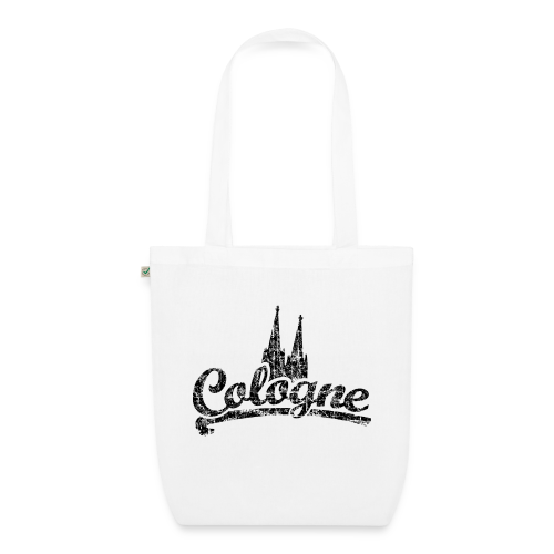 Cologne Dom Classic (Vintage Schwarz) Köln Bio Stofftasche - Bio-Stoffbeutel