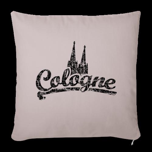 Cologne Dom Classic (Vintage Schwarz) Köln Kissenbezug - Sofakissenbezug 44 x 44 cm
