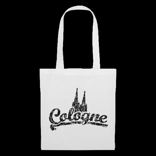 Cologne Dom Classic (Vintage Schwarz) Köln Stofftasche - Stoffbeutel