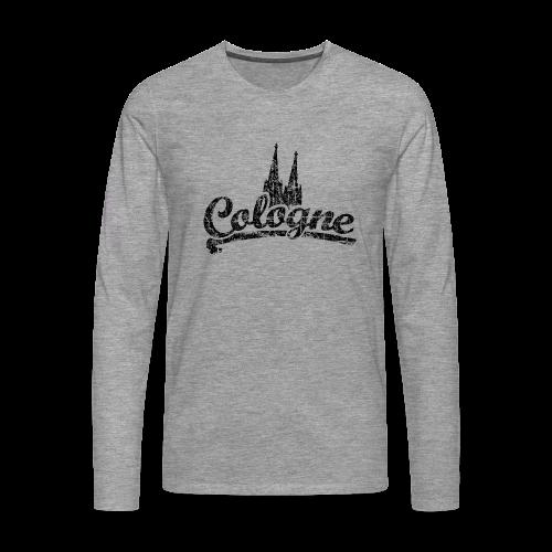 Cologne Dom Classic (Vintage Schwarz) Langarmshirt - Männer Premium Langarmshirt