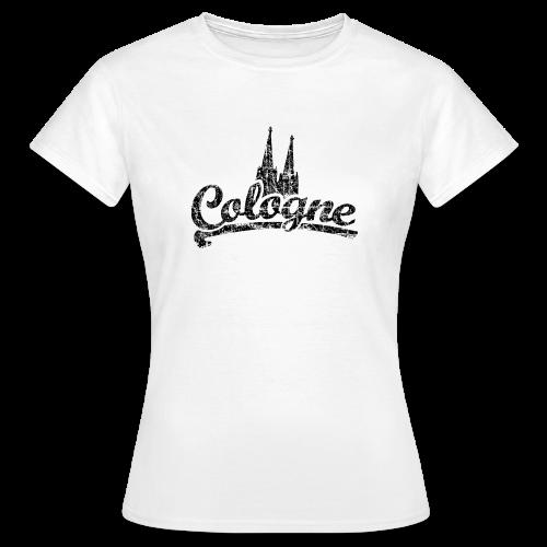 Cologne Dom Classic (Vintage Schwarz) Köln T-Shirt - Frauen T-Shirt