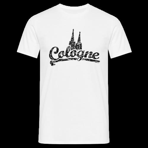 Cologne Dom Classic (Vintage Schwarz) Köln T-Shirt - Männer T-Shirt