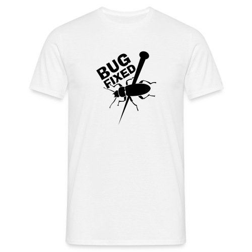 Bugfixed MyphpChat White-Black - Männer T-Shirt