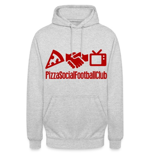 Hoodie Grand logo - Gris/Rouge - Sweat-shirt à capuche unisexe