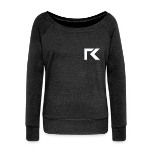 Women's Boat Neck Sweater - Rxmsey Logo - Women's Boat Neck Long Sleeve Top
