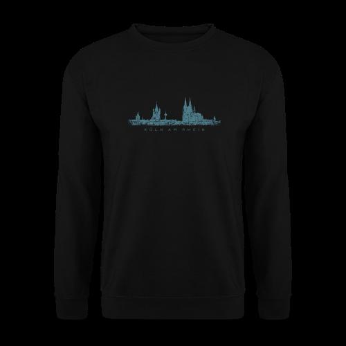 Köln am Rhein Skyline (Vintage Blau) Pullover - Männer Pullover