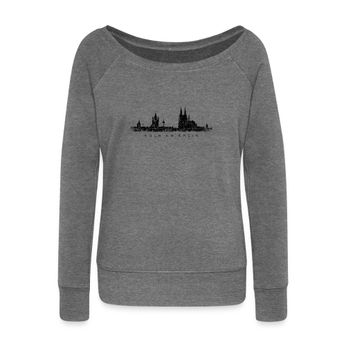 Köln am Rhein Skyline (Vintage Schwarz) Pullover - Frauen Pullover mit U-Boot-Ausschnitt von Bella