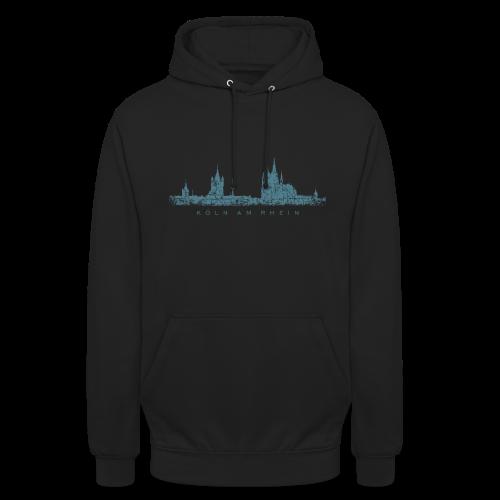 Köln am Rhein Skyline (Vintage Blau) Hoodie - Unisex Hoodie
