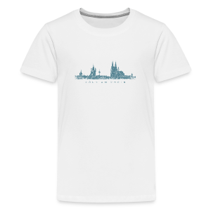 Köln am Rhein Skyline (Vintage Blau) Kinder T-Shirt - Teenager Premium T-Shirt