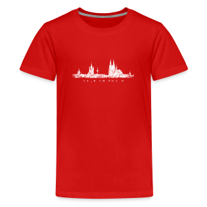 Köln am Rhein Skyline (Vintage Weiß) Teenager T-Shirt - Teenager Premium T-Shirt