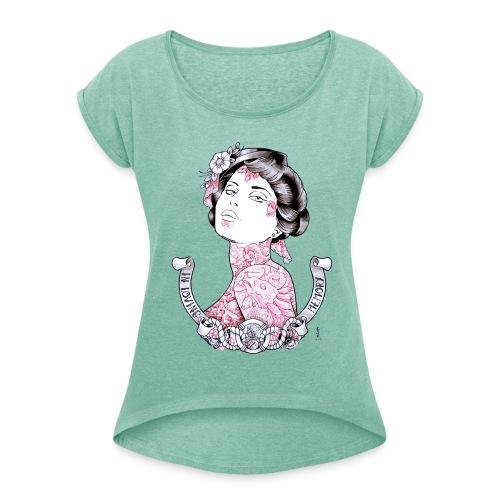 T-Shirt Math Link Tattoo - T-shirt à manches retroussées Femme