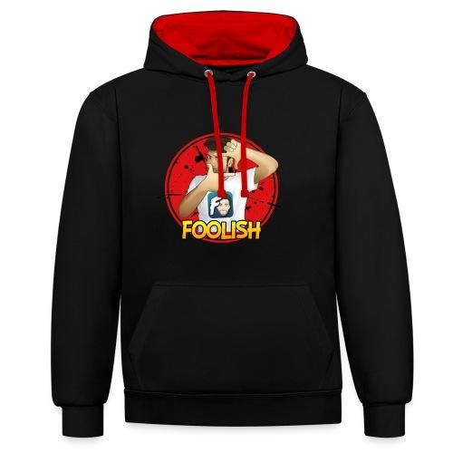 Felpa Foolish - Red Version Unisex - Felpa con cappuccio bicromatica