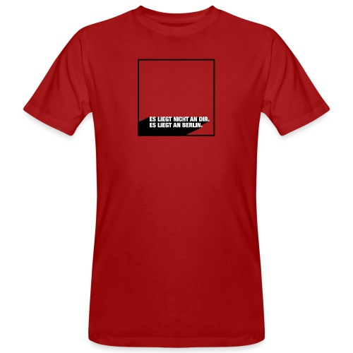 ES LIEGT AN BERLIN red - Männer Bio-T-Shirt