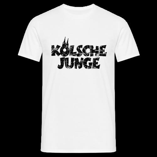 Kölsche Junge (Vintage Schwarz) Köln T-Shirt - Männer T-Shirt