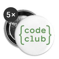 Buttons ~ Buttons small 25 mm ~ Code Club white badge
