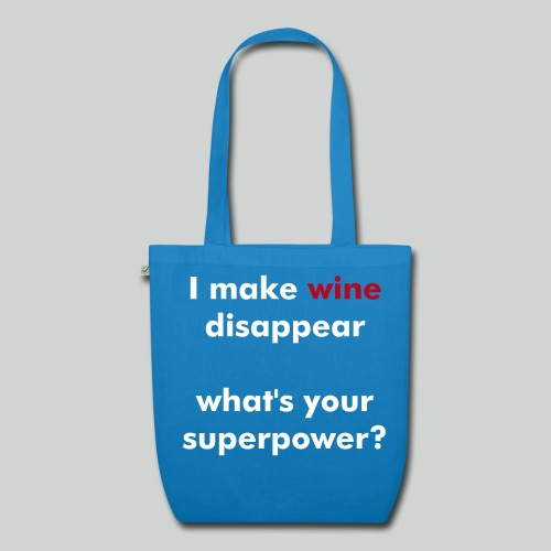 Wine Superpower (blue) - EarthPositive Tote Bag