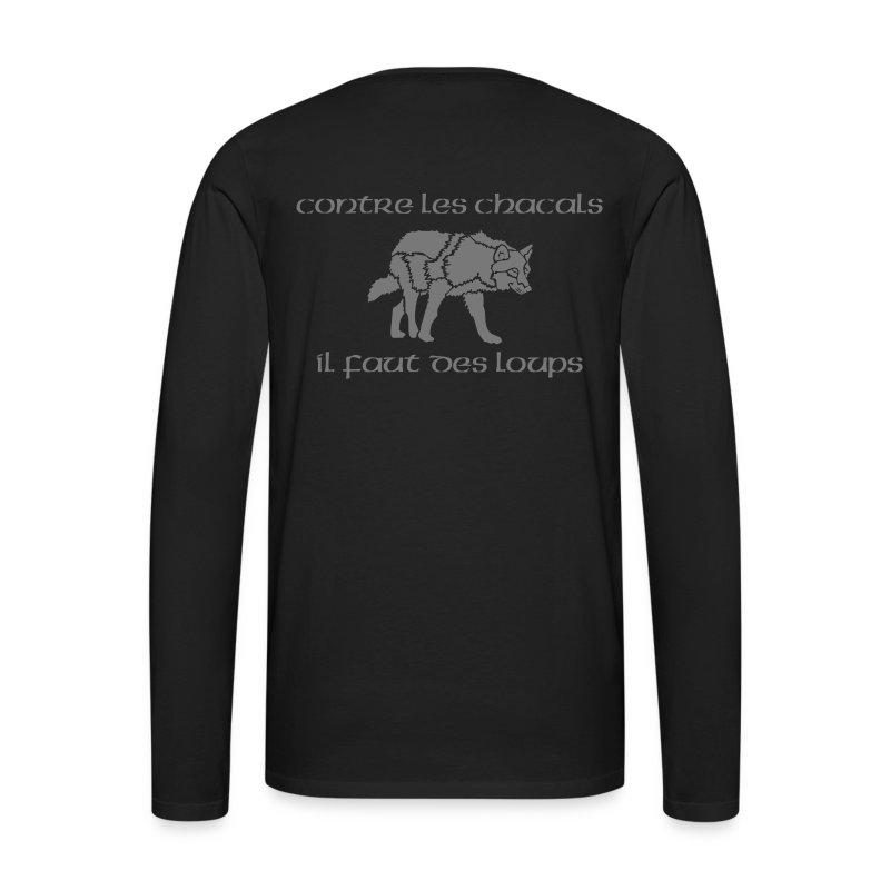T-shirt ML Homme Loup Vs Chacal + KDL - T-shirt manches longues Premium Homme