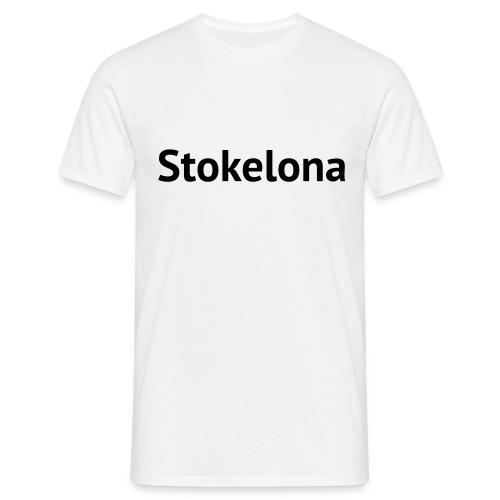 Stokelona - White-Black. Mens T. - Men's T-Shirt