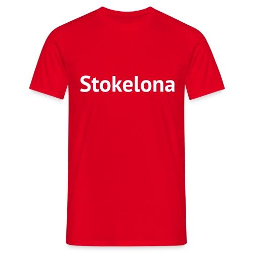Stokelona - Red-White. Mens T. - Men's T-Shirt