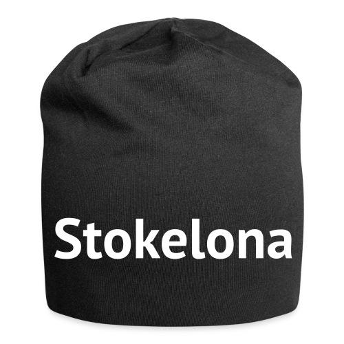 Stokelona - Loose beanie hat. Grey - Jersey Beanie