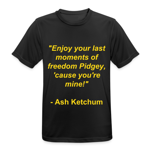 Last moments of freedom - Ash Ketchum - mannen T-shirt ademend