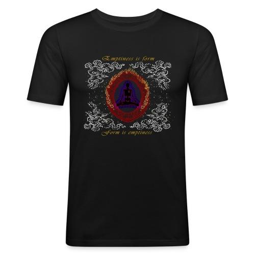 Leere-ist-Form-Herz-Sutra-Deutsch - Männer Slim Fit T-Shirt