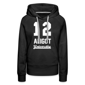 Sweat shirt femme 12 aligot university marquage blanc - Sweat-shirt à capuche Premium pour femmes