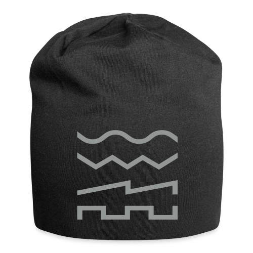 Waveforms Beanie / Black - Jersey Beanie