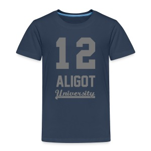 Tee shirt enfant 12 Aligot University Marquage gris - T-shirt Premium Enfant