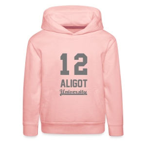 Sweat shirt enfant 12 Aligot University Marquage gris - Pull à capuche Premium Enfant