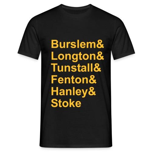Six Towns List. Black-Gold. Men's T - Men's T-Shirt