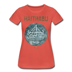 Haithabu - Illustration Silber - Frauen Premium T-Shirt