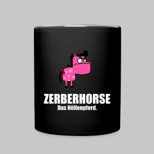 Pferdetasse schwarz - Tasse einfarbig