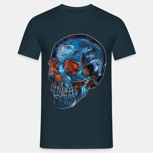 VINRECH CLOTHING - BLUE SKULL - T-shirt homme - T-shirt Homme