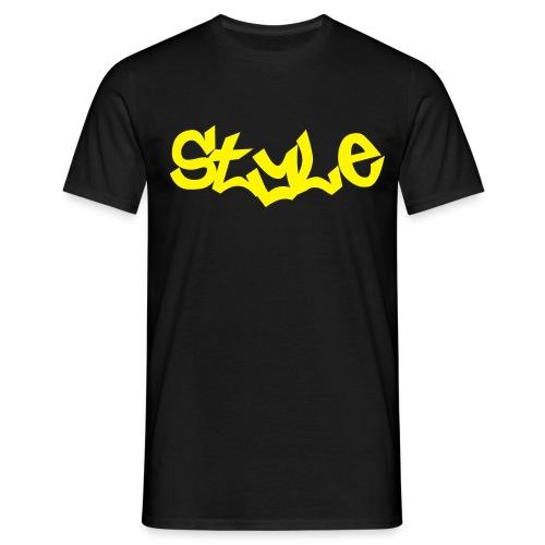 T-SHIRT STYLE Noir-Jaune - T-shirt Homme