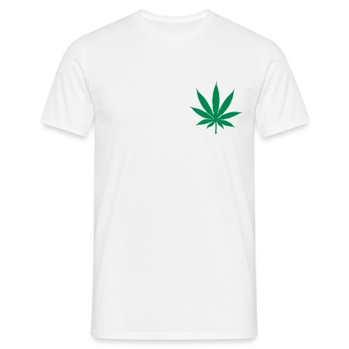 T-SHIRT CANNA-SMALL Blanc-Vert - T-shirt Homme