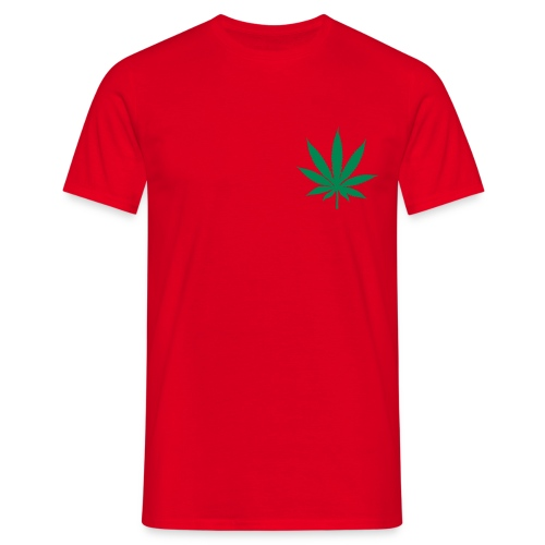 T-SHIRT CANNA-SMALL Rouge-Vert - T-shirt Homme
