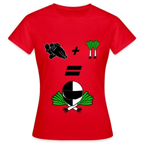 T-shirt l'équation du poireau - T-shirt Femme