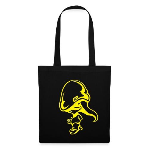 SAC TISSU LOLA-BEACH Noir-Jaune - Tote Bag