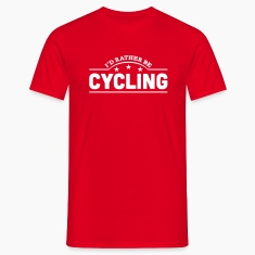 id rather be cycling banner t-shirt
