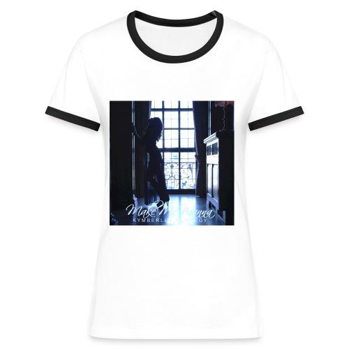 Make Me Wanna T-Shirt Navy  - Women's Ringer T-Shirt