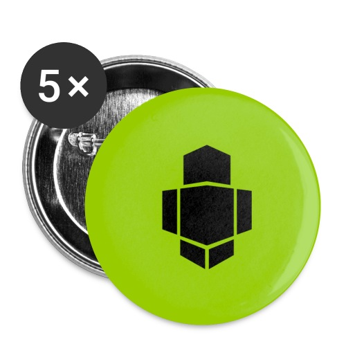 Green Buttons small - Buttons small 1''/25 mm (5-pack)