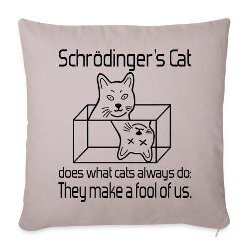 Schrödingers Katze Sofakissenbezug 44x44 - Sofakissenbezug 44 x 44 cm