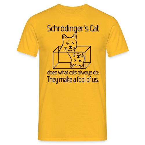 Schrödingers Katze Männer T-Shirt - Männer T-Shirt