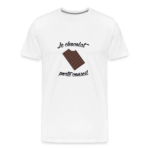 Le chocolat - Tshirt homme - T-shirt Premium Homme