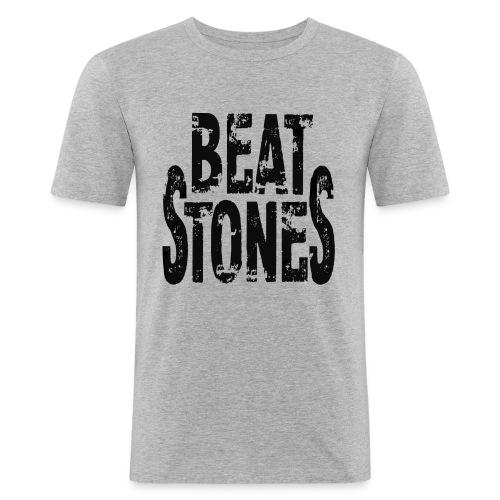 Beatstones Logo black - Männer Slim Fit T-Shirt
