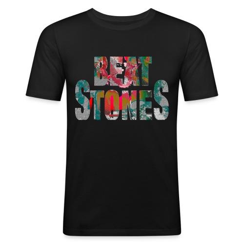Beatstones Logo bunt - Männer Slim Fit T-Shirt