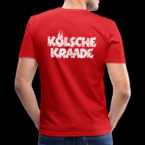 Kölsche Kraade (Vintage Weiß) Kölner Rabauken aus Köln - Männer Slim Fit T-Shirt