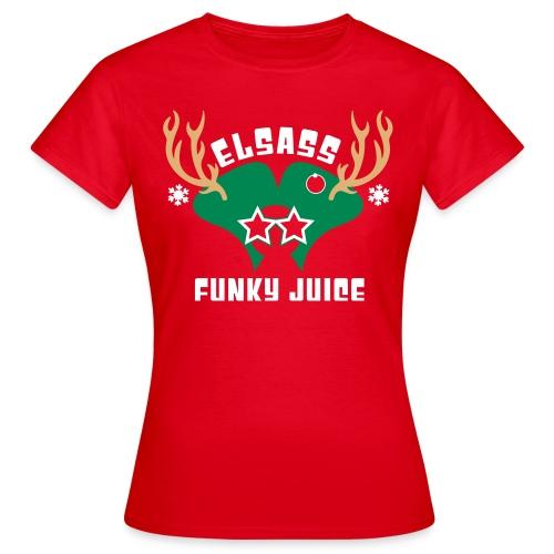 T-Shirt Femme Noel 2015 Logo Velours - T-shirt Femme